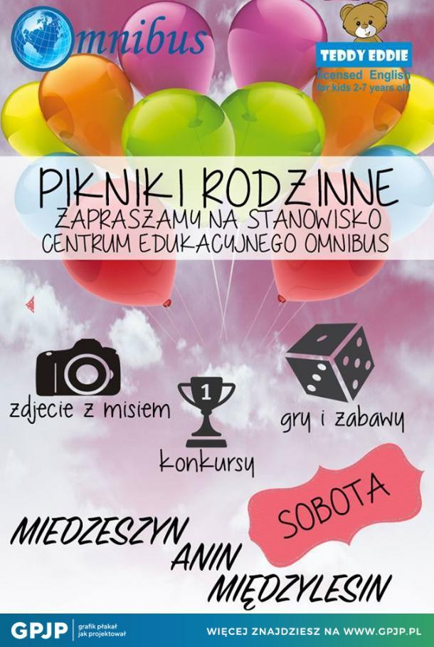 Plakat Szkoły Językowej Centrumedukacyjneomnibus Gpjppl